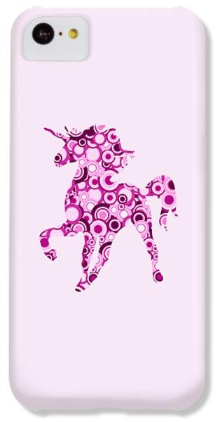 Pink Unicorn - Animal Art IPhone 5c Case
