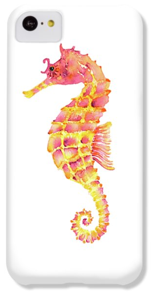 Pink Yellow Seahorse IPhone 5c Case