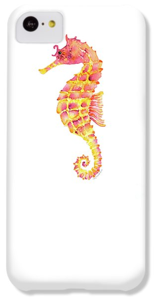Pink Yellow Seahorse - Square IPhone 5c Case