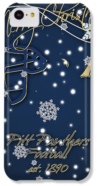 Pitt Panthers Christmas Cards IPhone 5c Case by Joe Hamilton