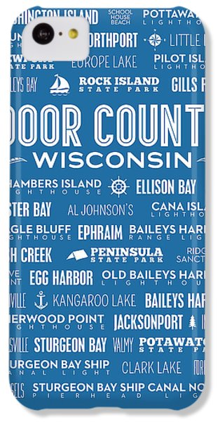 Places Of Door County On Blue IPhone 5c Case