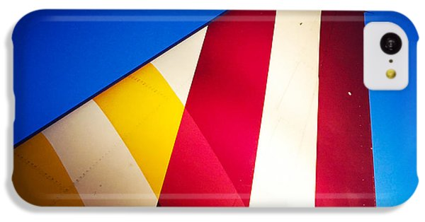 Detail iPhone 5c Case - Plane Abstract Red Yellow Blue by Matthias Hauser