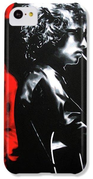 Bob Dylan iPhone 5c Case - Play It Fuckin' Loud by Hood alias Ludzska