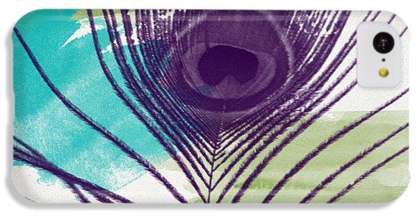 Peacock iPhone 5c Case - Plumage 2-art By Linda Woods by Linda Woods