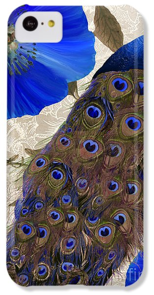 Peacock iPhone 5c Case - Plumage by Mindy Sommers