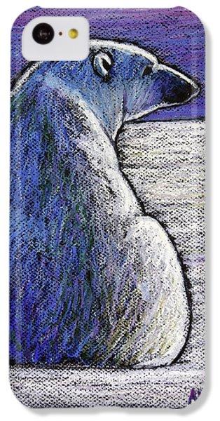 Polar Bear iPhone 5c Case - Polar Bear Backside by Ande Hall
