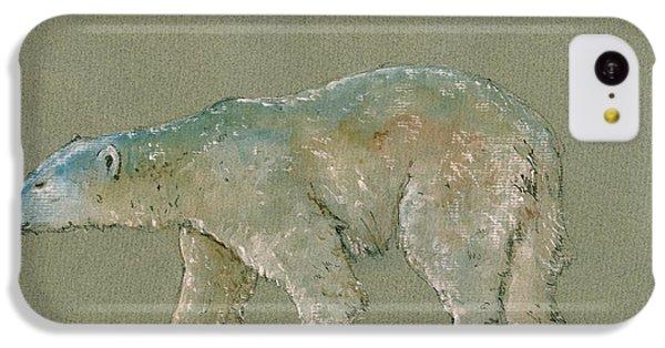 Polar Bear iPhone 5c Case - Polar Bear Original Watercolor Painting Art by Juan  Bosco