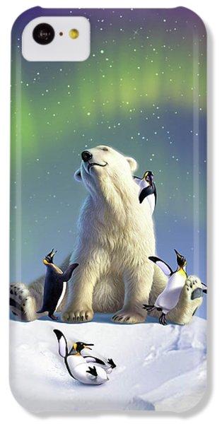 Polar Bear iPhone 5c Case - Polar Opposites by Jerry LoFaro
