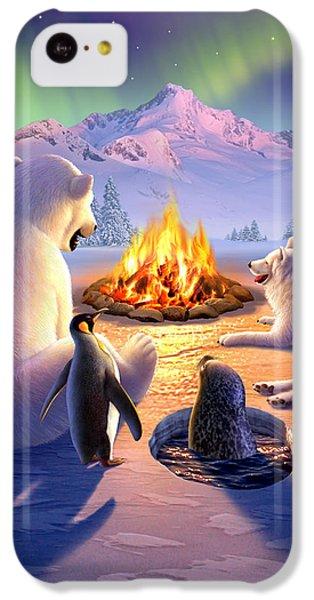 Polar Bear iPhone 5c Case - Polar Pals by Jerry LoFaro