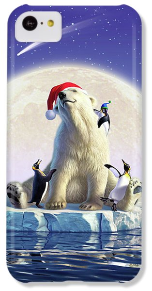 Polar Bear iPhone 5c Case - Polar Season Greetings by Jerry LoFaro