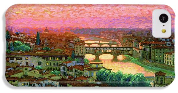 Impressionism iPhone 5c Case - Ponte Vecchio Sunset Florence by Jane Small