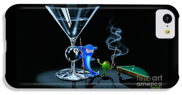 Sharks iPhone 5c Case - Pool Shark by Michael Godard