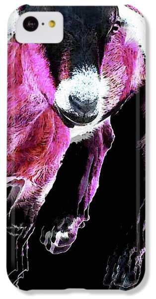 Pop Art Goat - Pink - Sharon Cummings IPhone 5c Case by Sharon Cummings