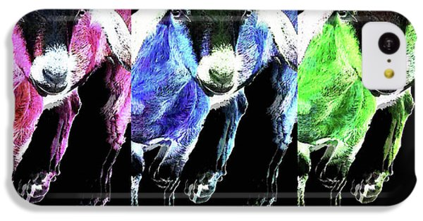 Pop Art Goats Trio - Sharon Cummings IPhone 5c Case by Sharon Cummings