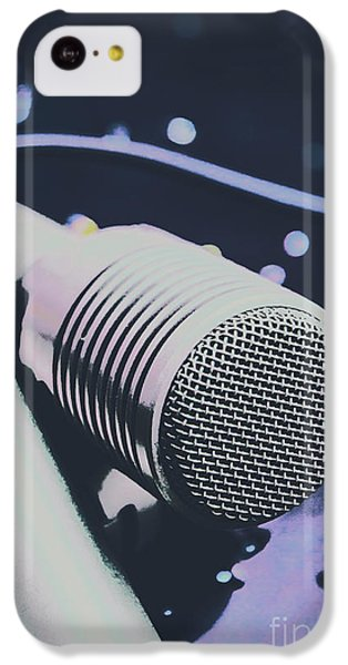 Sound iPhone 5c Case - Pop Art Performance In Disco Blues by Jorgo Photography - Wall Art Gallery