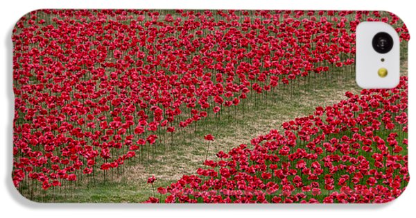 Poppies Of Remembrance IPhone 5c Case by Martin Newman