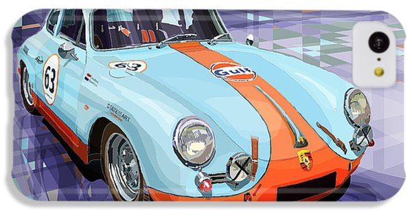 Car iPhone 5c Case - Porsche 356 Gulf by Yuriy Shevchuk