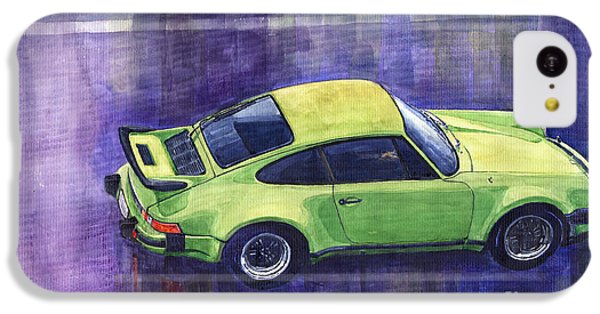 Car iPhone 5c Case - Porsche 911 Turbo Green by Yuriy Shevchuk