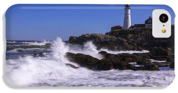 Beach Sunset iPhone 5c Case - Portland Head Light I by Chad Dutson