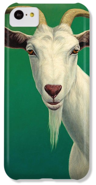 Portrait Of A Goat IPhone 5c Case by James W Johnson