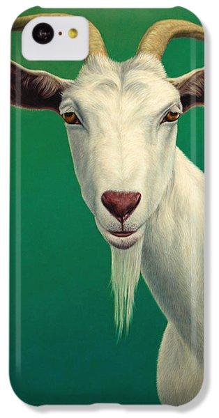 Portrait Of A Goat IPhone 5c Case by James W Johnson