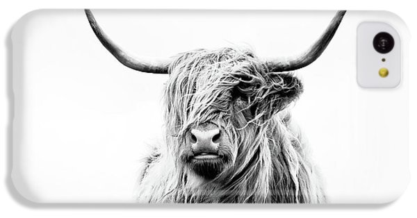 Rural Scenes iPhone 5c Case - Portrait Of A Highland Cow by Dorit Fuhg