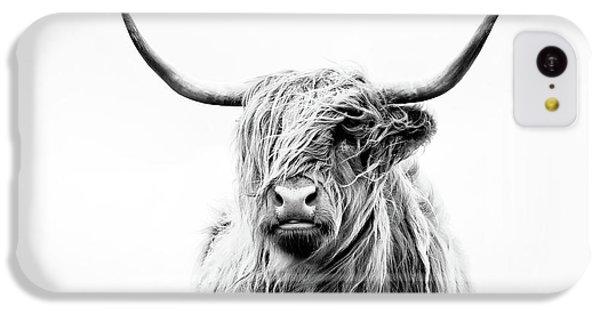 Cow iPhone 5c Case - Portrait Of A Highland Cow by Dorit Fuhg