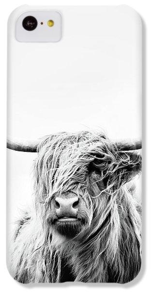 Cow iPhone 5c Case - Portrait Of A Highland Cow - Vertical Orientation by Dorit Fuhg