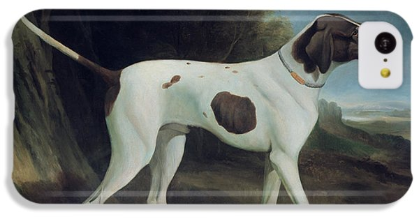 Dog iPhone 5c Case - Portrait Of A Liver And White Pointer by George Garrard