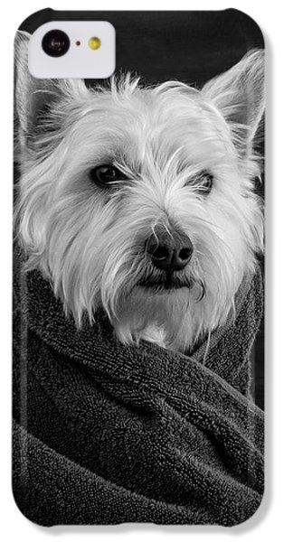 Dog iPhone 5c Case - Portrait Of A Westie Dog by Edward Fielding