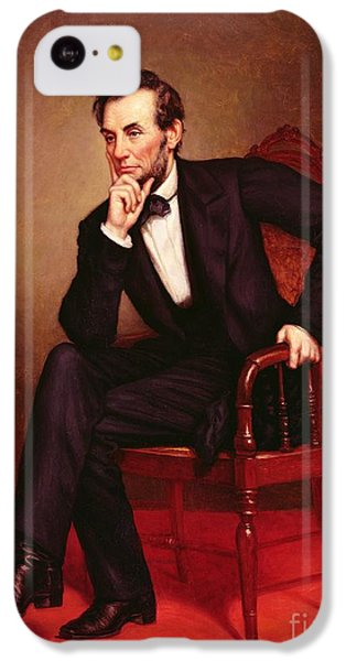 Portrait Of Abraham Lincoln IPhone 5c Case by George Peter Alexander Healy