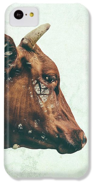 Cow iPhone 5c Case - Portrait Of Bess by Katherine Smit