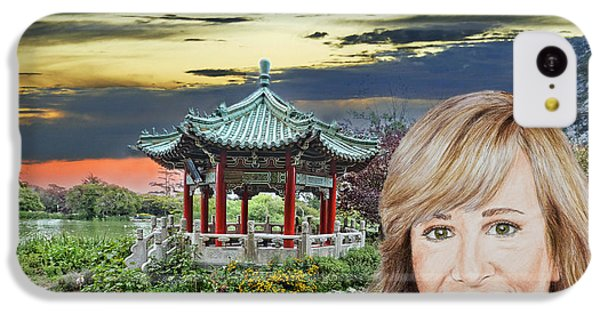 Johnny Carson iPhone 5c Case - Portrait Of Jamie Colby By The Pagoda In Golden Gate Park by Jim Fitzpatrick