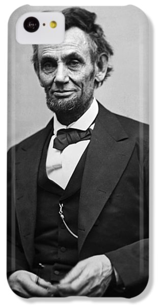 Landmarks iPhone 5c Case - Portrait Of President Abraham Lincoln by International  Images