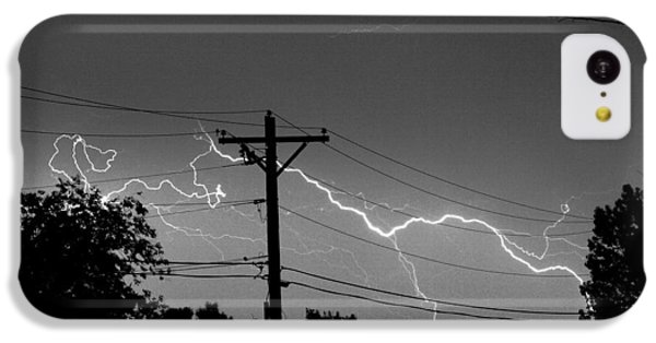 Power Lines Bw Fine Art Photo Print IPhone 5c Case by James BO  Insogna