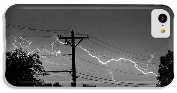 Power Lines Bw Fine Art Photo Print IPhone 5c Case