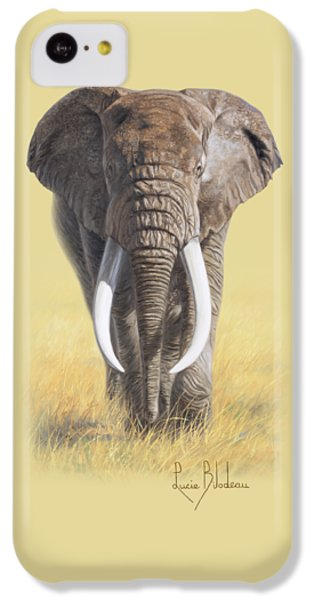 Bull iPhone 5c Case - Power Of Nature by Lucie Bilodeau