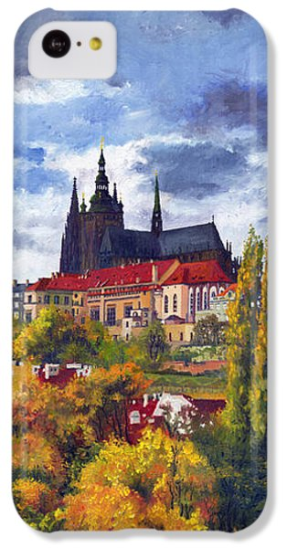 Castle iPhone 5c Case - Prague Castle With The Vltava River by Yuriy Shevchuk
