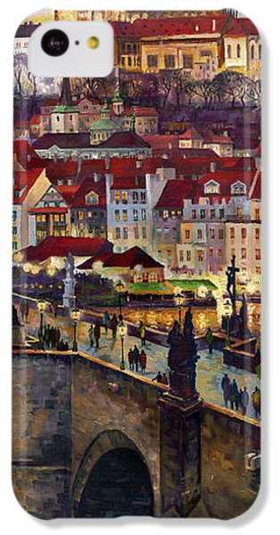Prague Charles Bridge With The Prague Castle IPhone 5c Case by Yuriy  Shevchuk