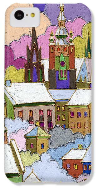 Castle iPhone 5c Case - Prague Old Roofs Prague Castle Winter by Yuriy Shevchuk