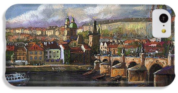 Castle iPhone 5c Case - Prague Panorama Charles Bridge Prague Castle by Yuriy Shevchuk