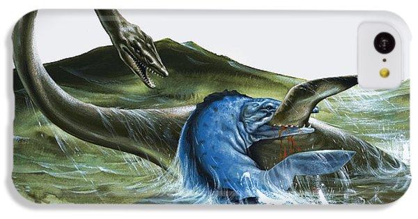 Prehistoric Creatures IPhone 5c Case by David Nockels