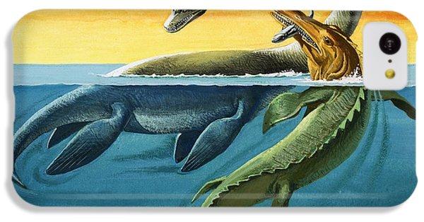 Prehistoric Creatures In The Ocean IPhone 5c Case by English School