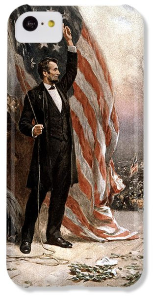 President Abraham Lincoln Giving A Speech IPhone 5c Case by War Is Hell Store