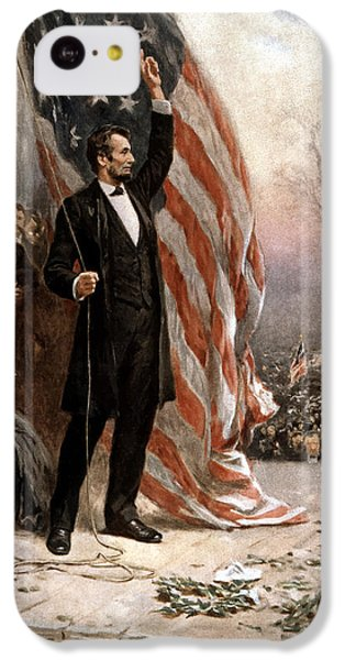 President Abraham Lincoln Giving A Speech IPhone 5c Case