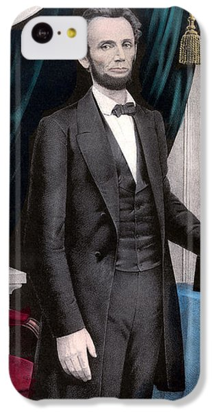 Abraham Lincoln iPhone 5c Case - President Abraham Lincoln In Color by War Is Hell Store