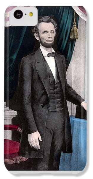 President Abraham Lincoln In Color IPhone 5c Case by War Is Hell Store