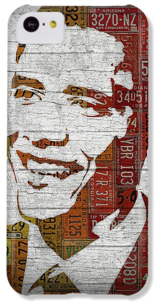 President Barack Obama Portrait United States License Plates IPhone 5c Case by Design Turnpike