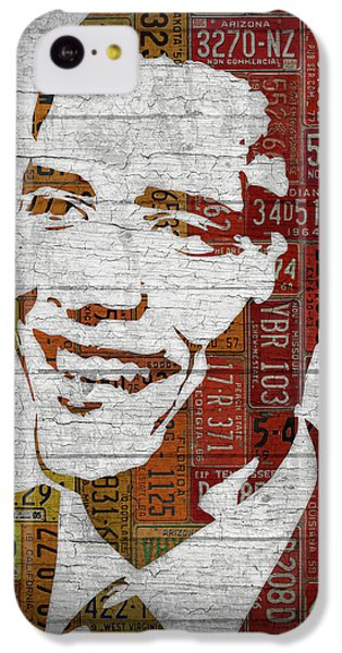 President Barack Obama Portrait United States License Plates IPhone 5c Case by Design Turnpike