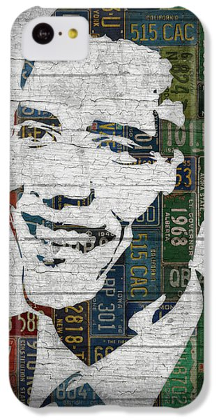 President Barack Obama Portrait United States License Plates Edition Two IPhone 5c Case by Design Turnpike